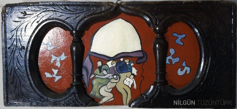 60x35 Ahşap İçi Tual Üzerine Yağlıboya 1991