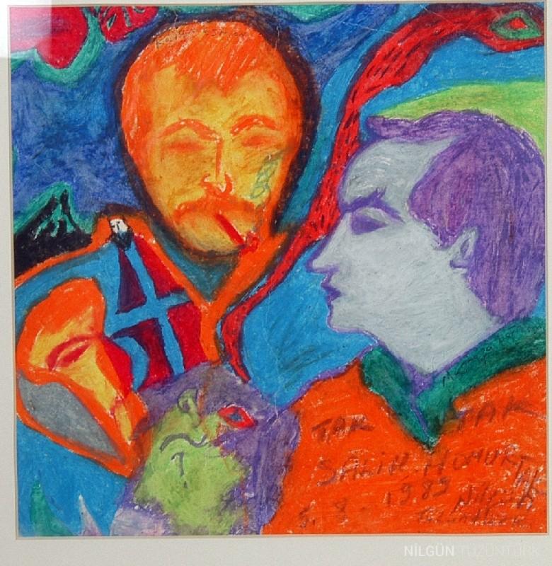 24x24 Kağıt Üzerine Pastel 1989